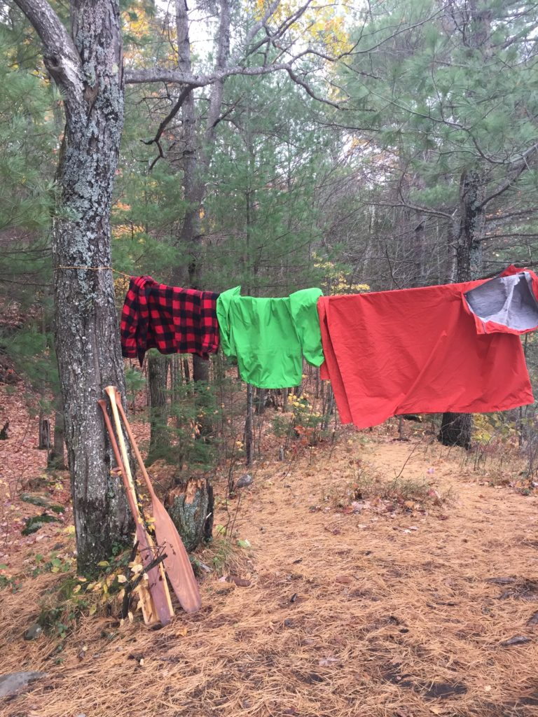 using the wind to our advantage, drying the flannel and aquanator